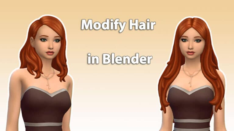How to modify a hair in Blender – Speed Meshing