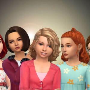 Girls Medium Hair Pack 17
