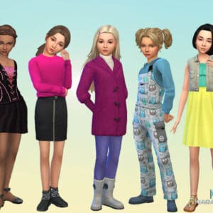 Girls Body Clothes Pack 4