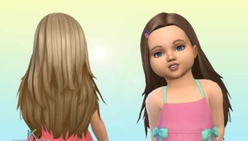 Monica Hairstyle for Toddlers + Clips 💕