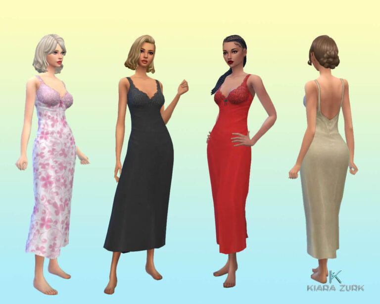 TS3 Romantic Gown