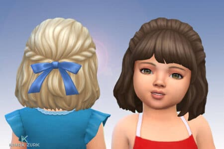 Curly Semi Up for Toddlers + Bow